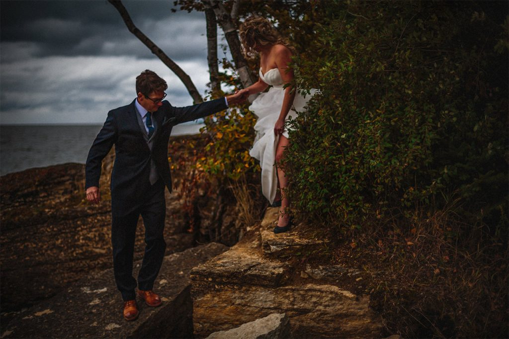 Lakeview Hecla Resort Wedding Photographer