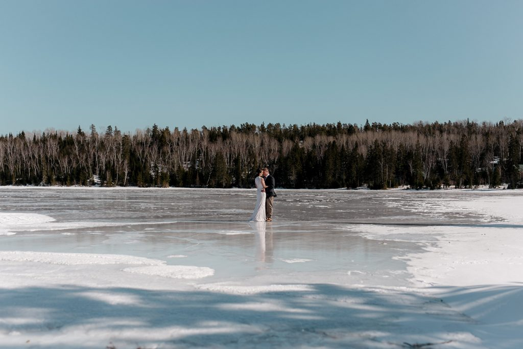 Winter Wedding at Falcon Trails Resort
