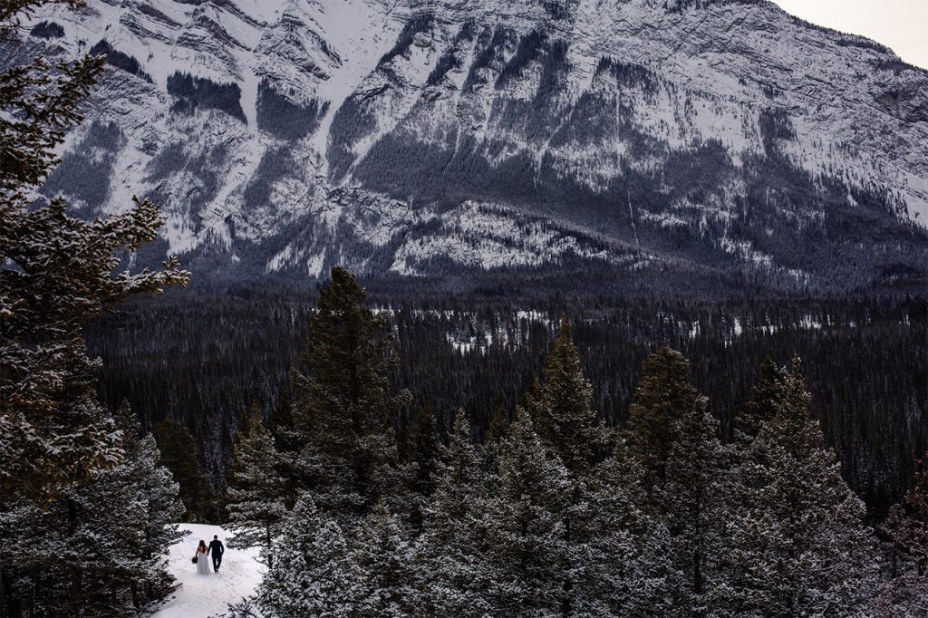 Wedding Elopement in Banff, Alberta