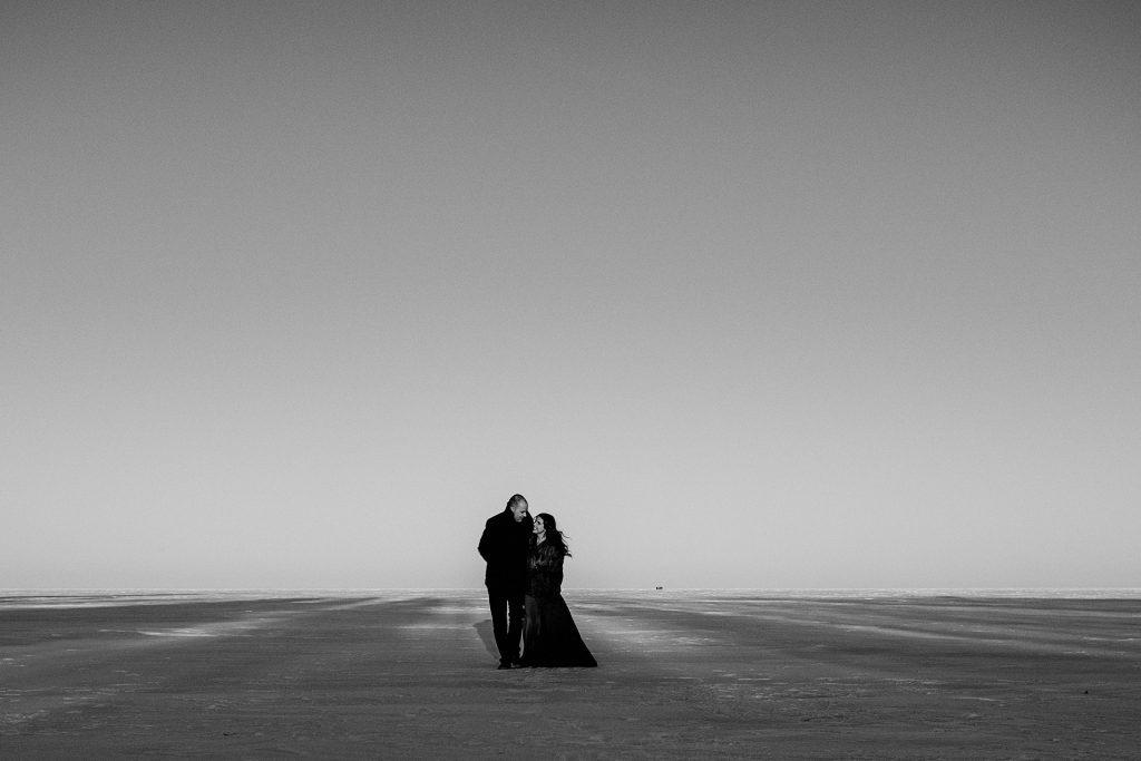 Winter Engagement Photos in Gimli Manitoba