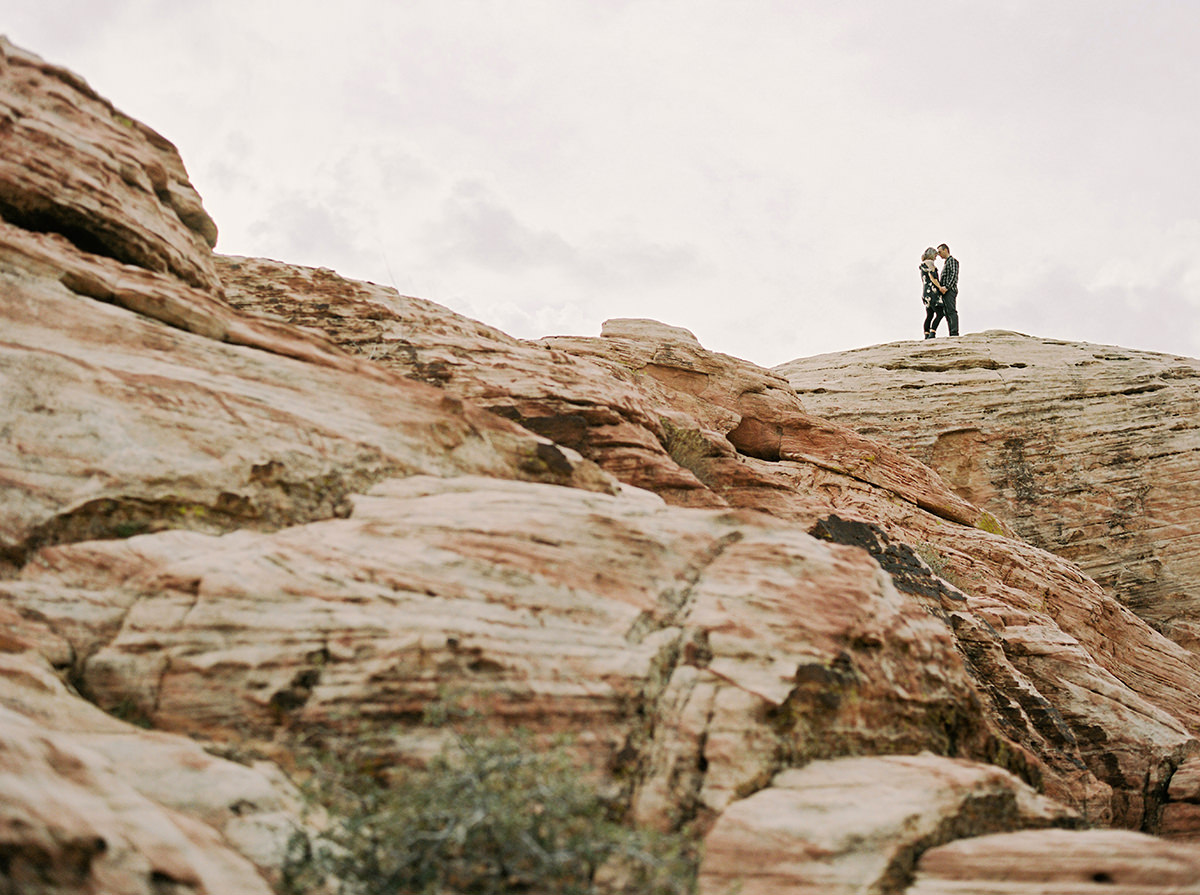 Couples Session Photos in Red Rock Canyon on Kodak Film