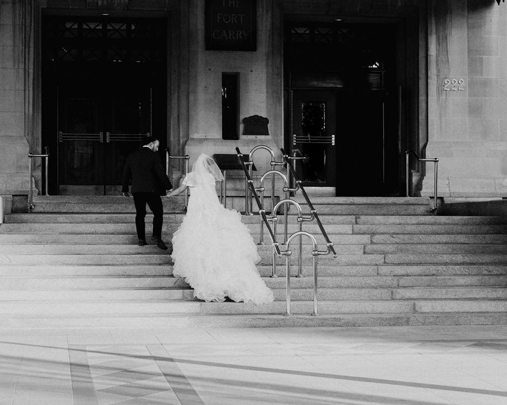 Black tie wedding at Hotel Fort Garry