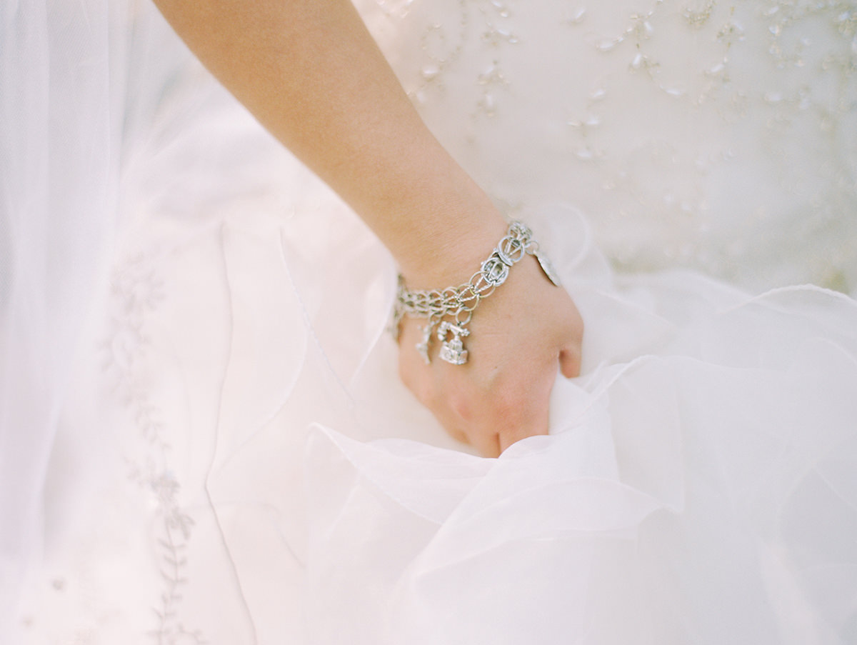 Beautiful personal wedding bracelet