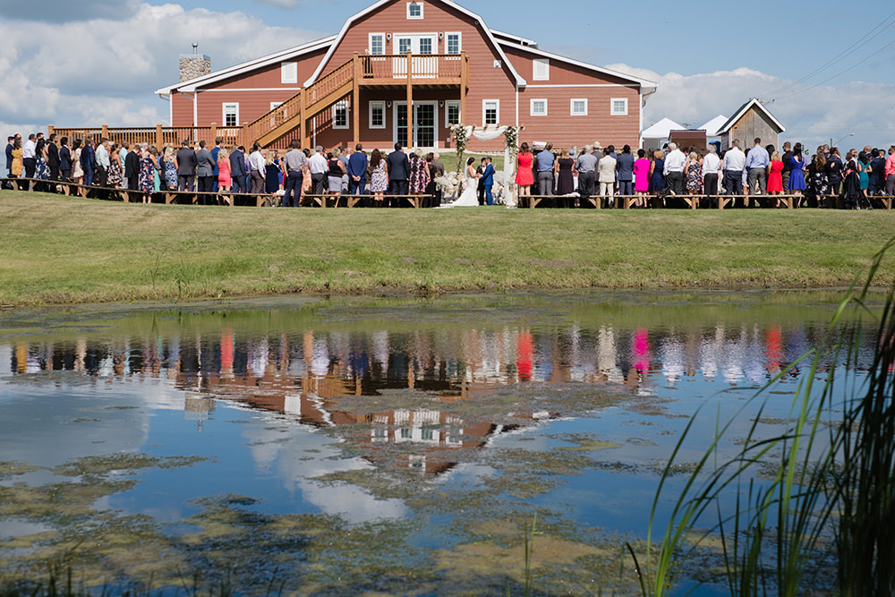 Outdoor wedding at Whitetail Meadow