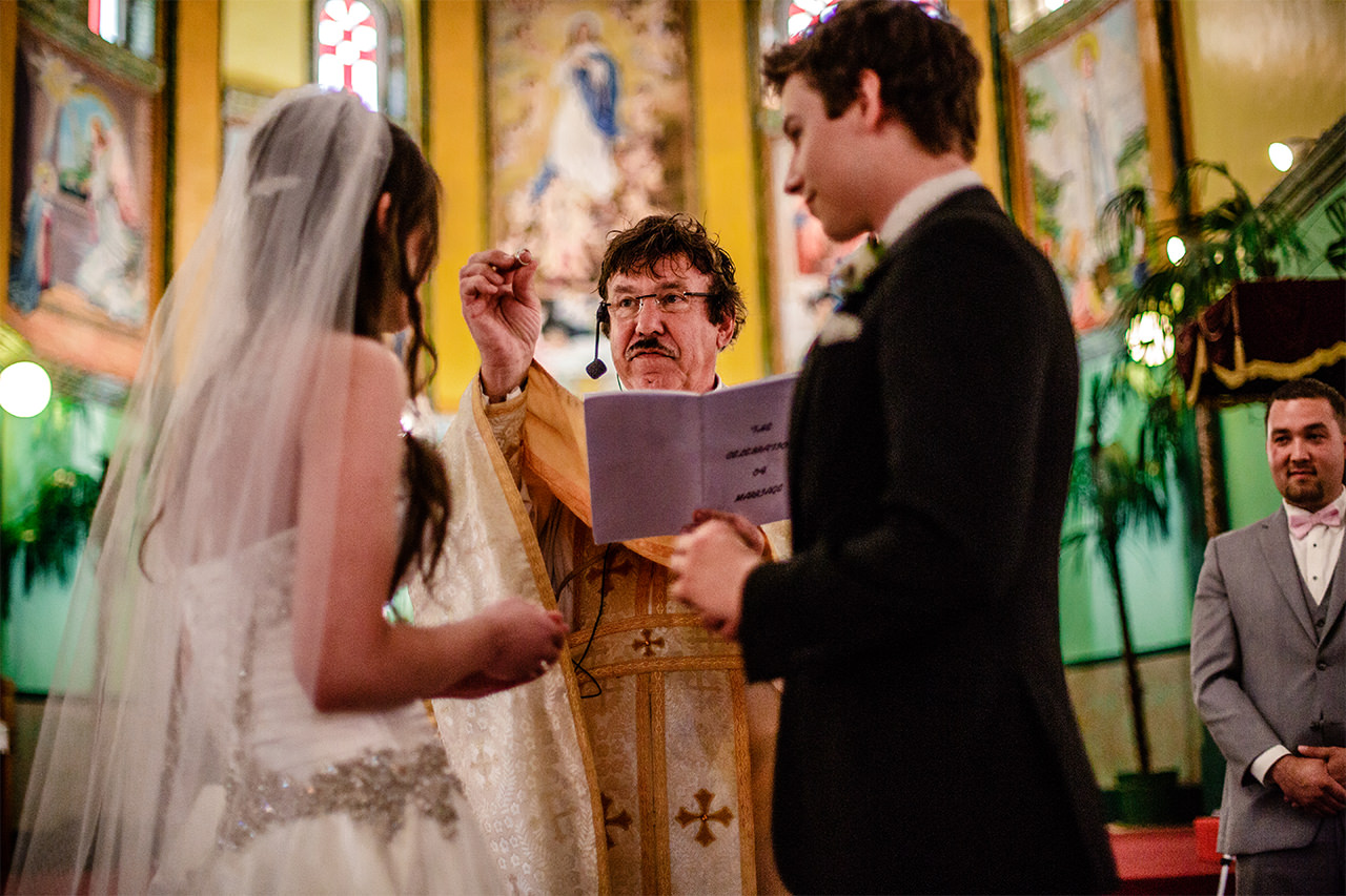 Immaculate Conception Church wedding photos