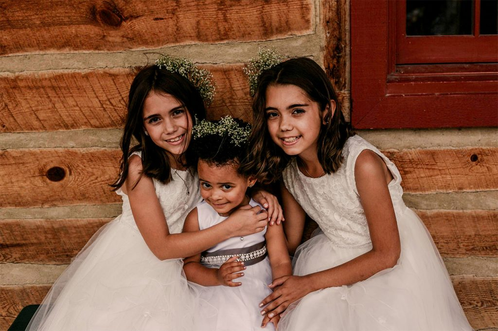 Beautiful flower girl portraits